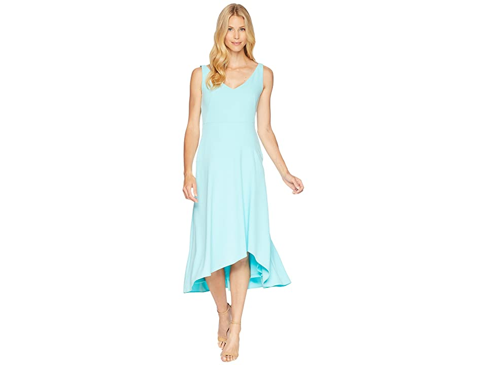 Calvin Klein Sweetheart Neck Asymmetric Hem Dress CD8C11NH (Seaglass) Women