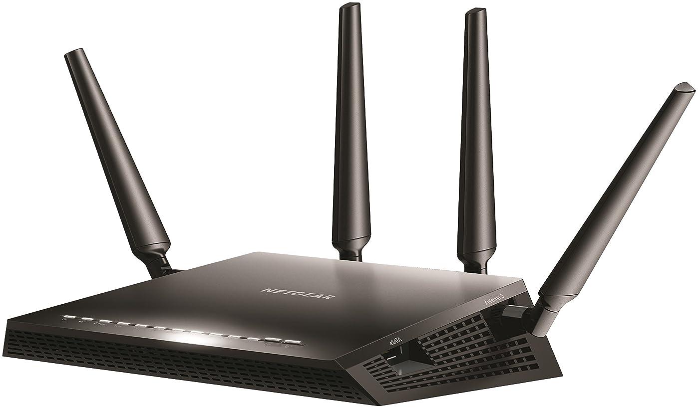 美徳監督する酔うNETGEAR WiFi 無線LAN ルーター AC2600 接続台数 42台 デュアルバンド HT160対応 NighthawkX4S R7800-100JPS