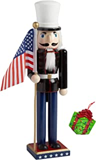 Marines Officer Military Armed Forces Large Unique Decorative Holiday Season Wooden Christmas Nutcracker & Bonus Tree Ornament