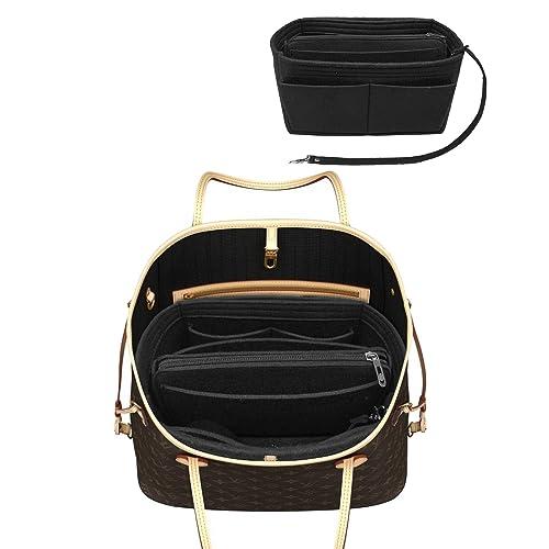 ab8827d8409 LEXSION Felt Purse Insert Handbag Organizer Bag in Bag Organizer with  Handles