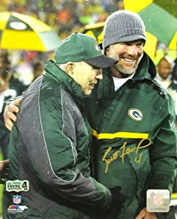 Brett Favre Autographed/Signed Green Bay Packers Jersey Retirement Ceremony 8x10 NFL Photo