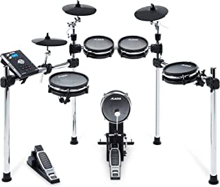 Alesis Command Mesh Kit | Electronic Drum Kit with Mesh Heads, Chrome Rack & Command Drum Module with 70 Kits, 600+ sounds 60 Play Along Tracks, Custom Sample Loading and USB/MIDI Connectivity