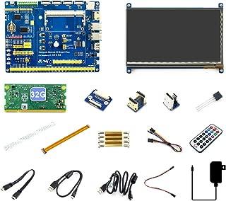 Waveshare Raspberry Pi Compute Module 3+/32GB Development Kit Type B CM3+ IO Board 7inch HDMI LCD (C) DS18B20 IR Remote Controller