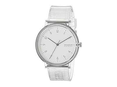 Skagen Aaren Transparent Three-Hand Watch (SKW6605 Clear Silicone) Watches