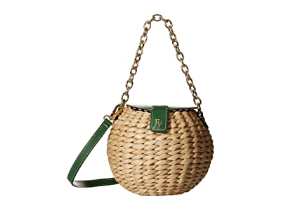 Frances Valentine Honeypot Crossbody (Natural/Green Ray) Handbags