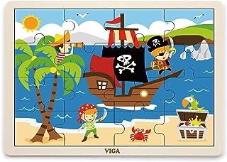 VIGA 16 pcs Wooden Puzzle -Pirate