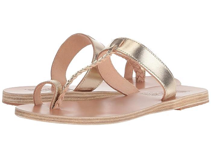 Ancient Greek Sandals  Melpomeni (Platinum) Womens Sandals