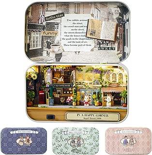 CUTEBEE Box Theatre Doll House Furniture Miniature, 1:24 DIY Dollhouse Kit for Kids (Happy Corner)