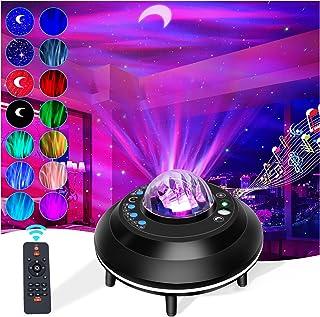 Sponsored Ad - Galaxy Star Projector,Handytu Ocean Wave Galaxy Aurora Light with Bluetooth Music Speaker,Remote Control,Ti...