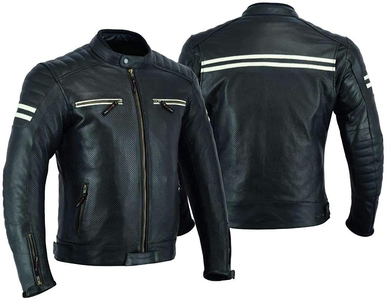 MOTORCYCLE Cheap mail order shopping 5 ☆ very popular LEATHER JACKET FOR MEN PROTE RIDING BIKERS ARMOR WITH