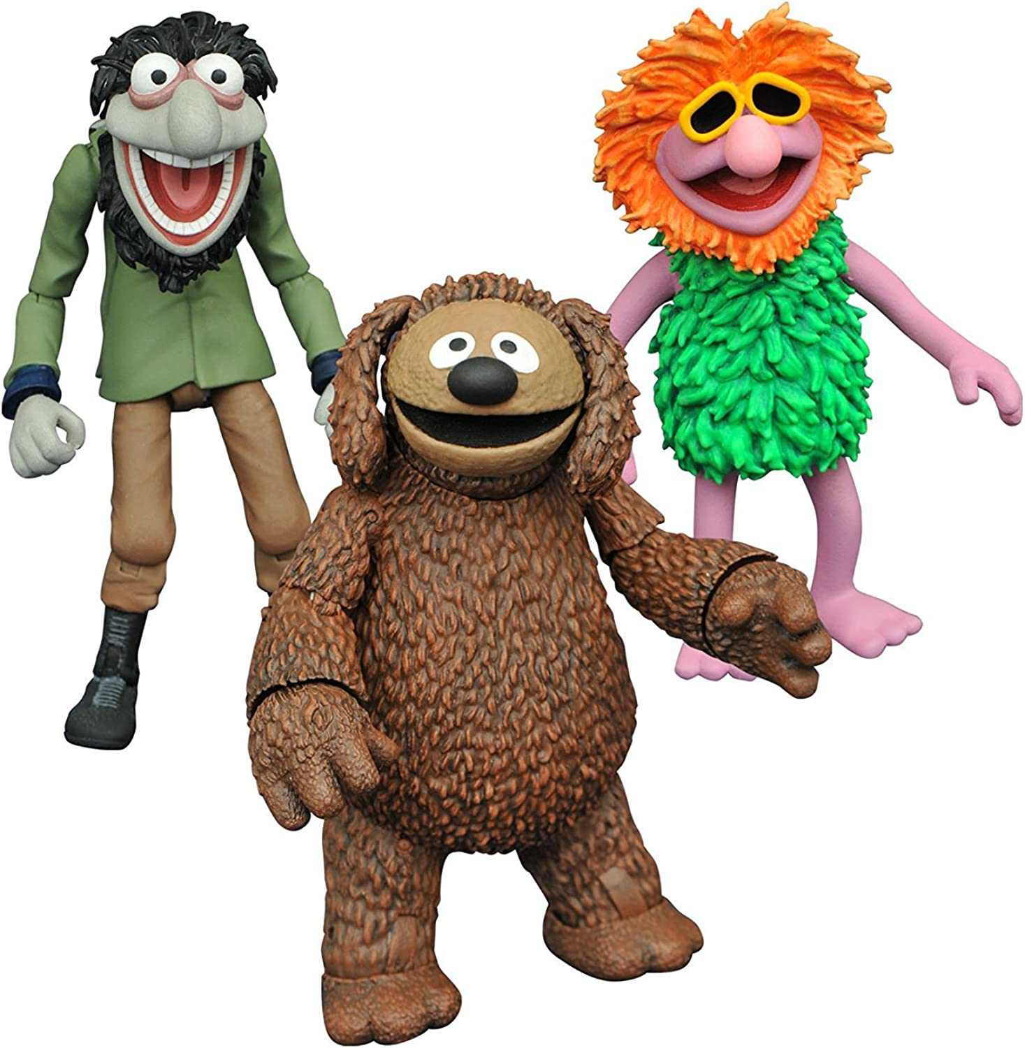 Diamond Select Toys The Muppets  Rowlf, Mahna Mahna, and Crazy Harry Select Action Figure (3 Pack)