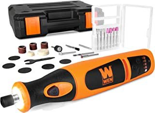 WEN 23072 Variable Speed Lithium-Ion Cordless Rotary Tool Kit with 24-Piece Accessory Set, Charger, and Carrying Case