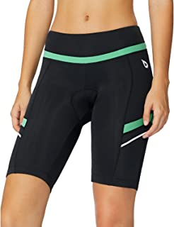 BALEAF Womens Bike Shorts with Padded Wide Waistband UPF 50+ for Cycling, Spinning, Road Bike