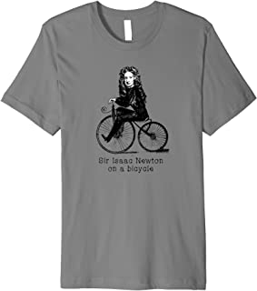 Sir Isaac Newton on a Bicycle Premium T-Shirt