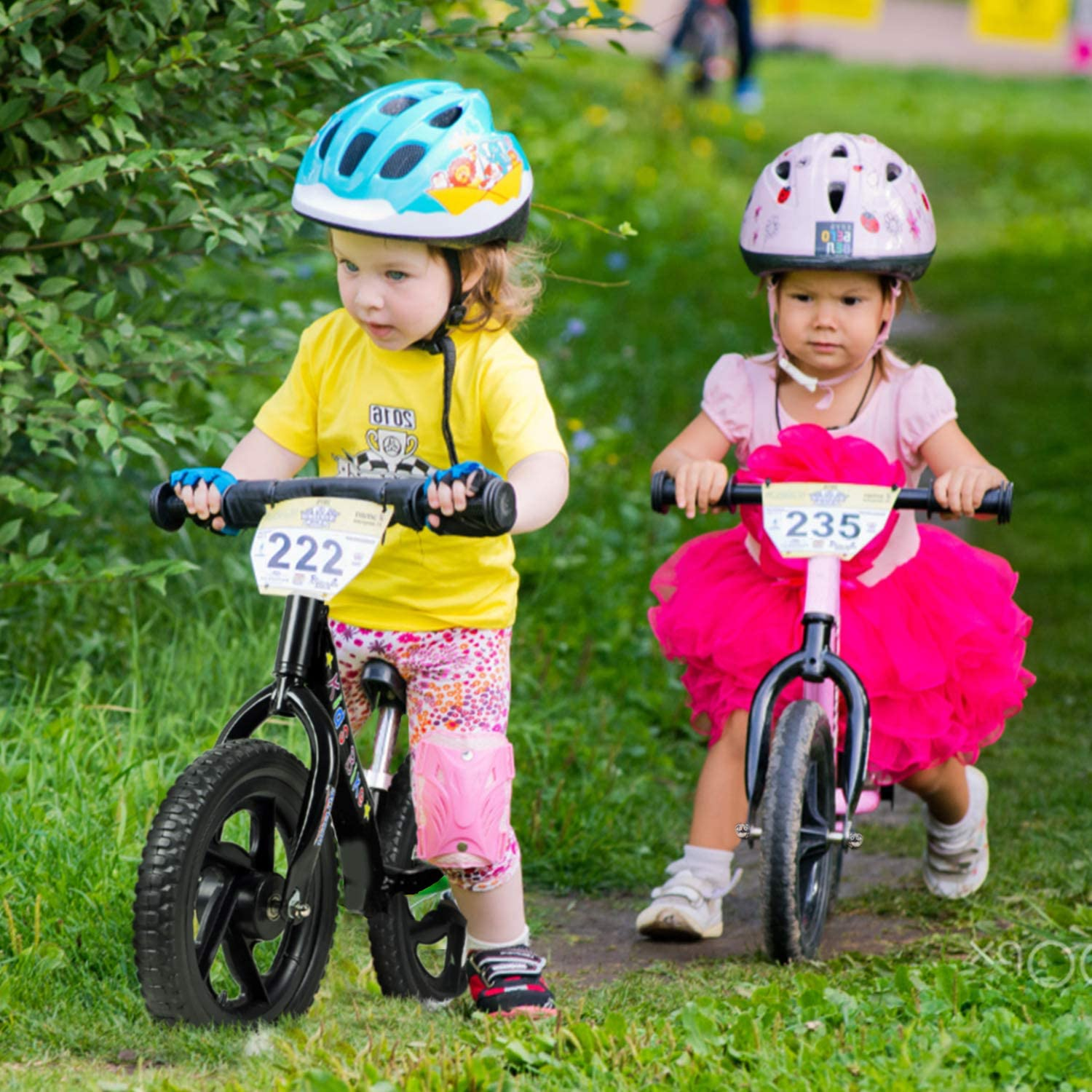 12 Balance Bike for Boys and Girls Lightweight No-Pedal Toddlers Walking Bicycle for Children Age 2,3,4,5,6