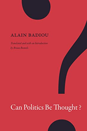 Can Politics Be Thought? [Lingua inglese]