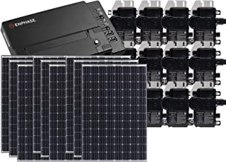 Treepublic High Efficiency Residential Solar Panel Grid-Tied System | Panasonic HIT 335W Solar PV Panels w/Enphase Microinverter System + IQ Envoy & Consumption Monitoring  (10kW)