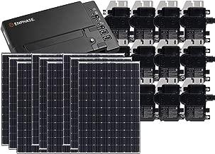 Treepublic High Efficiency Residential Solar Panel Grid-Tied System | Panasonic HIT 335W Solar PV Panels w/Enphase Microinverter System + IQ Envoy & Consumption Monitoring (10kW)