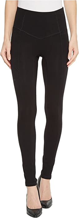 HUE - Hold It High-Waist Cotton Leggings