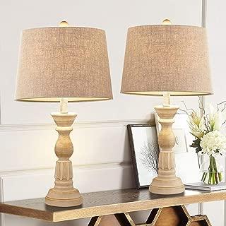 wooden lamp set