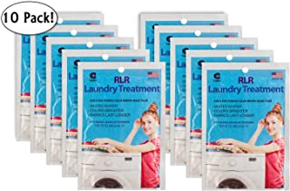 RLR Natural Powder Laundry Detergent – Whitens, Brightens, Refreshes Baby Cloth Diapers, Musty Towels, Workout Clothes - Non-Toxic, Fragrance-Free for Sensitive Skin (Pack of 10)
