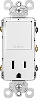 Legrand - Pass & Seymour radiant RCD38TRWCC6 Single Pole/3-Way Switch & 15 Amp Outlet, White