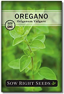 Sow Right Seeds - Oregano Seed for Planting; Non-GMO Heirloom; Instructions to Plant and Grow a Kitchen Herb Garden, Indoo...