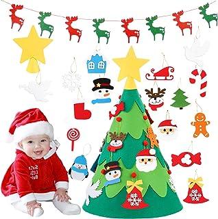 comprar comparacion Monuary Árbol de Navidad del Fieltro DIY Fijó con 18pcs Ornamentos Desmontables, Árboles de Navidad Extraíble en 3D con 1 ...