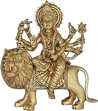 Ashtabhuja-Dhari Goddess Durga - Brass Statue