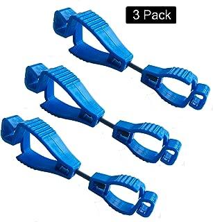 Laleonpame Glove Clip Holder Work Safety Clip Gloves Grabber Keeper (3 pcs Blue)