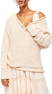 Free People Womens Bright Lights Marled Open Stitch Pullover Sweater