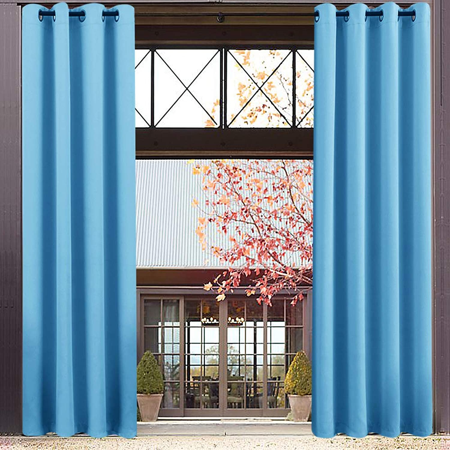 Blackout Curtains for Boy's Room 84 inches Long Triple Weave Nursery Window Curtain Panels for Kids Room Darkening Thermal Insulated Drapes, Grommet Top, 1 Pair, Royal bluee