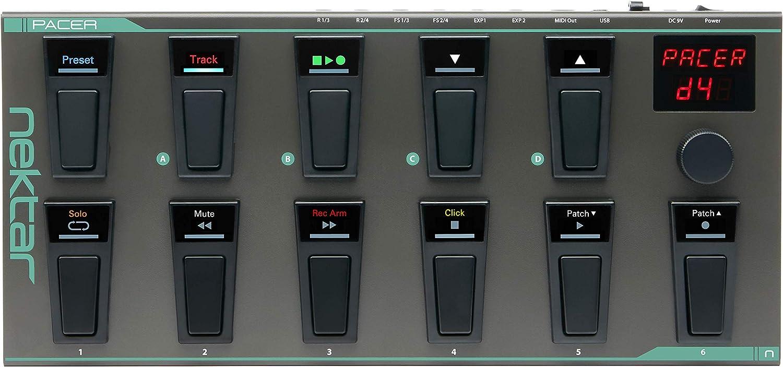 Nektar Pacer USB MIDI Footswitch Controller con Nektar DAW Integration