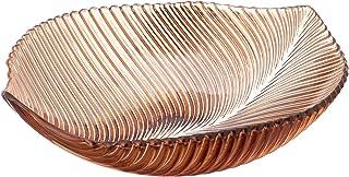 طبق فاكهة اكريليك على شكل ورقة شجر من بلاك بير، 30 × 30 × 11 سم - بني