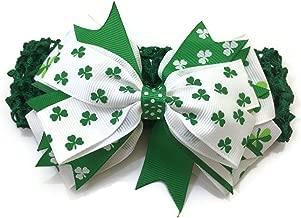 Rush Dance St Patrick's Day Stretch Baby Headband Lime White & Green