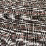 Wollstoff Glencheck Karo schwarz rot Modestoffe - Preis