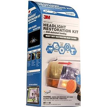 3M 39165 Headlight Restoration Kit (Heavy Duty – Drill Activated)