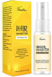 Hair Inhibitor, Painless Hair Stop Growth Spray, Apply after Hair Removal, Non-Irritating Hair Removal Inhibitor, for Face...