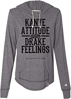 Womens Fall Trendy Champion Hoodies Kanye Attitude with Drake Feelings Royaltee Collection