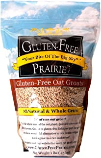 Gluten Free Prairie Oat Groats, 1 Pound - Gluten Free, Non-GMO, Whole Grain, Raw & Sproutable, Rice Substitute, Vegan, Low Glycemic, High in Protein, Fiber, and Vitamin B