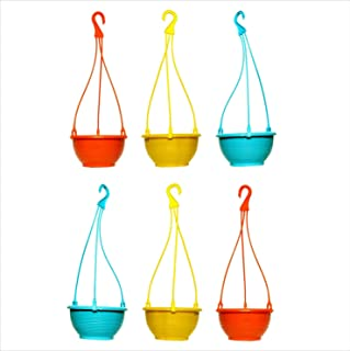 VGreen Garden Store Small Hanging Planter Pack of 6 (Multi Color)