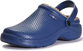 Sponsored Ad - Men's Women's Lined Clogs Winter Waterproof Slippers Slip On Garden Shoes Non-Slip Home House Slipper Indoo...