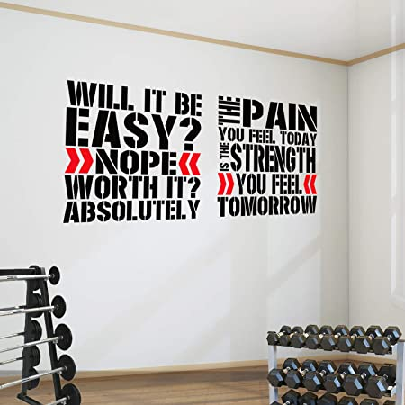 The pain you feel today Fitness Wall Tattoo Wall Sticker 100 x 57 cm