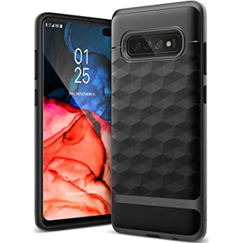 Caseology Parallax for Galaxy S10+ Plus Case (2019) - Award Winning Design - Black