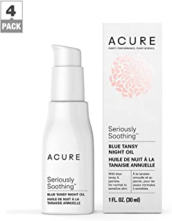 Acure Seriously Soothing Blue Tansy Night Oil, 1 OZ, Pack-4