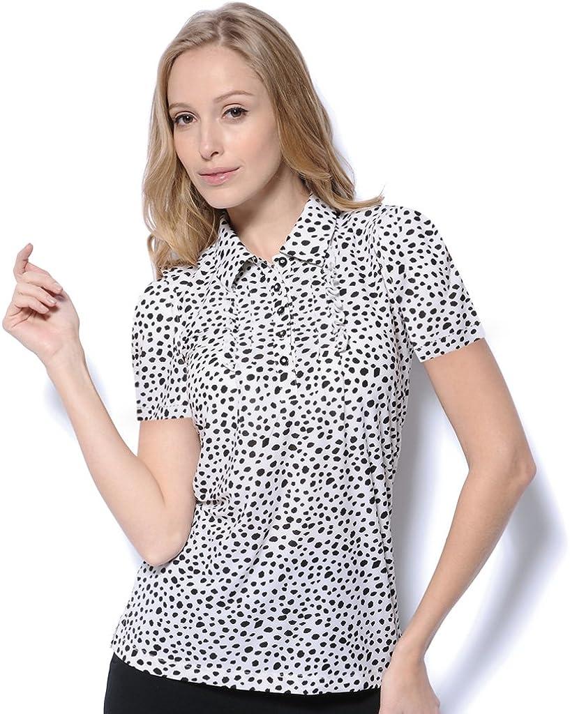 Monterey Club Women's Hilary Ruffle Polo Shirt #2618