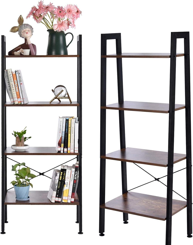 Luxury goods Industrial 21 Tier Ladder Shelf Adjustable Bookcase ...