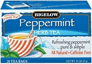Bigelow Tea Herb Purely Peppermint, 1 Box of 20 Bags