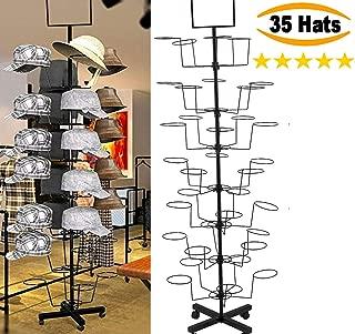 HAT Display - HAT Racks - Winter, Baseball, Cowboy, Womens, Mens, Baby - Hard Durable HAT Stand Rack - 7 Tier 35 Hats