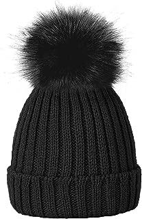TOSKATOK® Girls Faux Fur Pom Pom Beanie Hat